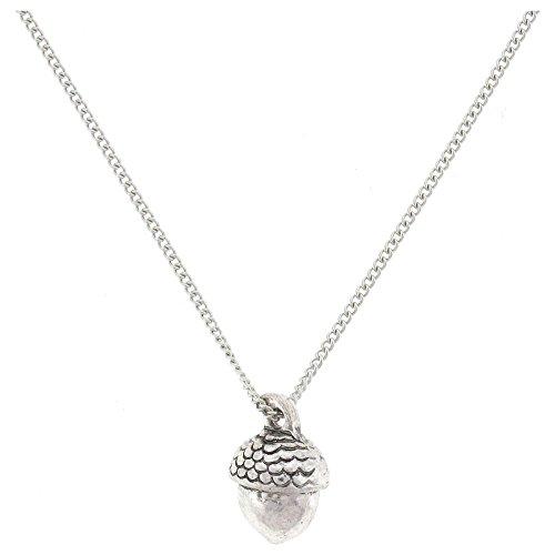 PYNK Jewellery Brosche in Antik Silber Oaktree Eichel -