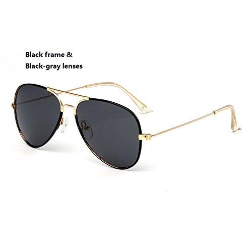 Yiph-Sunglass Sonnenbrillen Mode Kind Sonnenbrille Fashion Pilot Sonnenbrille Kinder Polaroid Sonnenbrille Jungen Mädchen Kinder Baby Brille UV400 Spiegel (Color : Black)