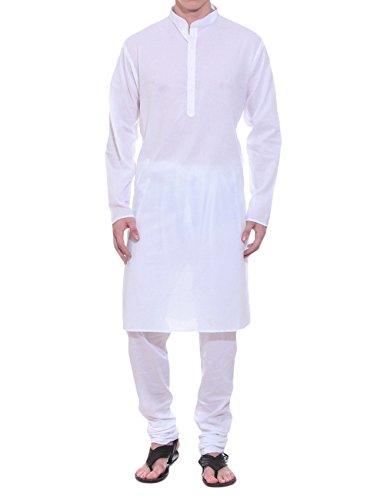 Royal Men's Cotton Kurta Pyjama Set (ROYAL_01_White _X-Large)  available at amazon for Rs.399