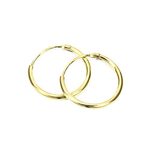NKlaus PAAR HERREN Creolen ECHT GOLD 333 Ohrring Ohrschmuck Ohrhänger 17,5 mm 3752