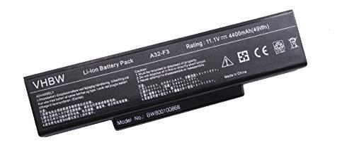 vhbw Batterie LI-ION 4400mAh 11.1V noir compatible pour MSI Megabook EX400 etc. remplace A32-F3, 90-NI11B1000, 90-NFY6B1000Z, 90-NIA1B1000, SQU-503 etc.