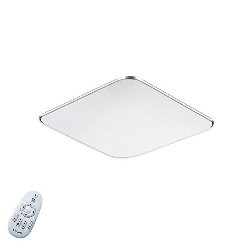 SAILUN 12W Ultra mince LED Plafonnier Lampe Moderne Lampe de Plafond pour salon, Cuisine, chambre à coucher, Hôtel - Argenté (12W Argent Dimmable)