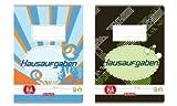 Herlitz Aufgabenheft A5, holzfreies Papier, 80 g/m², 48 Blatt, weiß
