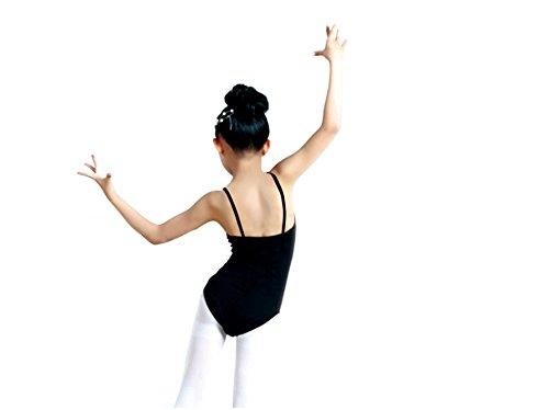J&E-Maillots Maillot de Danza ,Gimnasia Leotardo, Estirable de Ballet Body de Tirante, modelo clásico para niñas6-8 years old