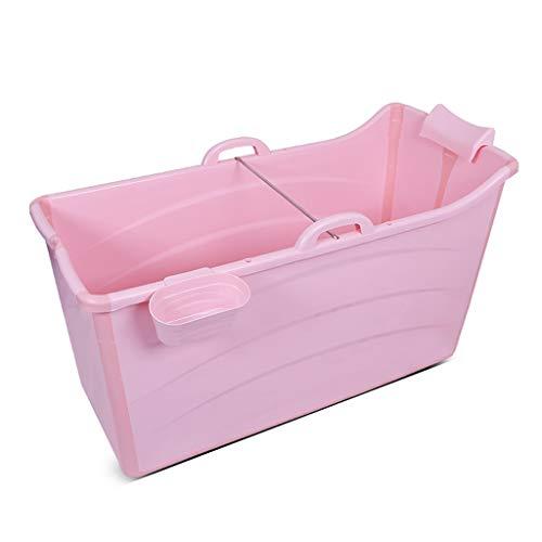 YONGJUN Vasca da Bagno Pieghevole, Barilotto di Bagno di Plastica di Barile del Bagno del Bagno di Plastica Adulto Blu/Rosa (Colore : Rosa)