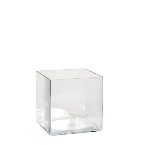 Mica decorations Britt Vase, Glas, Klar, 18 x 18 x 18 cm