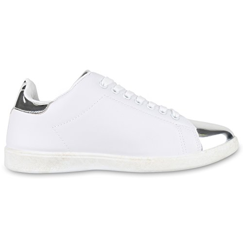 best-boots - Pantofole Donna Weiss Silber Bianco