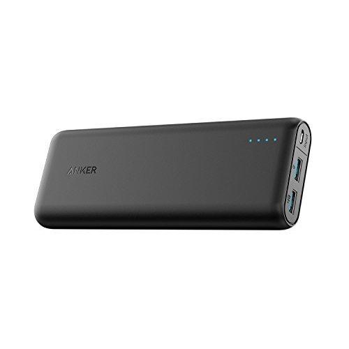 Anker PowerCore Speed 20000mAh Powerbank Externer Akku extrem hohe Kapazität mit Qualcomm Quick Charge 3.0 und PowerIQ für iPhone, iPad, Samsung Galaxy und und weitere Smartphones und Handy (Mit Bank Power Kabel Extreme)