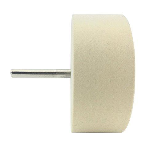 Pingranso Weiß Biber Polieren Rad Schleifen Kopf mit 1/10,2 cm Griff für Metall Aluminium, Edelstahl, Chrom, Schmuck, Holz, Kunststoff, Keramik, Glas, etc.