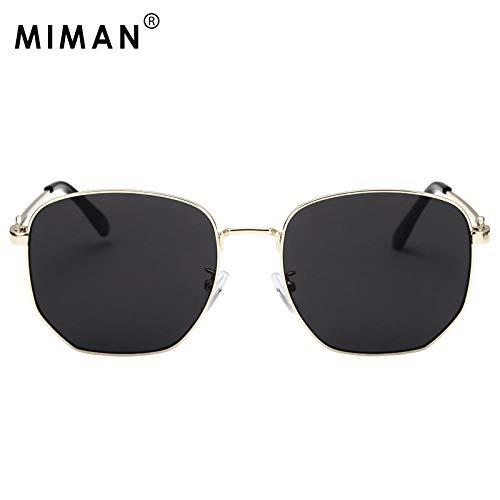 BHLTG Sonnenbrille Weibliche Flut Rundes Gesicht War Dünn Metallrahmen Sonnenbrille Männer Myopie Reiten Fahren Sonnenbrille-5