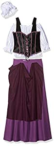 Limit, Disfraz de tabernera medieval para adultos, talla XS