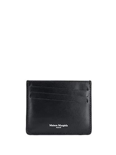 Maison Margiela Herren S35ui0432p1355t8013 Schwarz Leder Kreditkartenetui