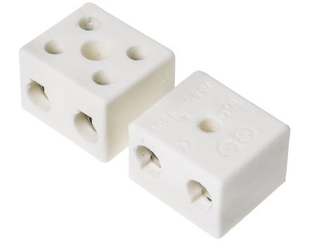 Ceramic Terminal Block (1 way 57 amp High Temp Ceramic Mains Terminal Block Cable Wire Terminal Electrical)