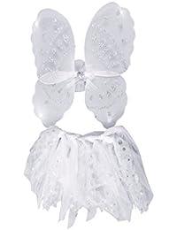 Girls Angel Fairy Wings And Tutu Set