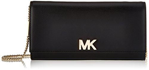 Michael Kors Damen Mott Clutch, Schwarz (BLACK), 4.5x12x24 centimeters (Kors Kette Schwarz Handtaschen Michael)
