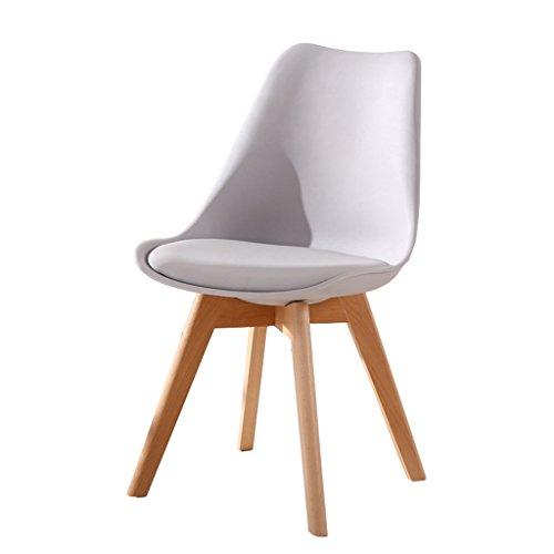YAnFAn & Chaises Concise moderne Chaise en bois massif, table à manger de bureau créative Salle de réunion Dossier Chaise d'ordinateur (gris clair) pour cuisine maison et commercial