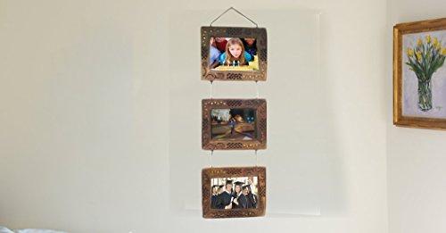age Fotorahmen Familie Momente, Familie Multi Bilderrahmen, Bilderrahmen aus Holz, dekorative Elemente für Ihr Zuhause und Büro - Maßnahmen 25,5 Zoll, Ostern Tag / Muttertag / Karfreitag Geschenk (Ostern Elemente)