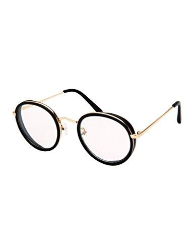 Kleine Gesichtsrunde Rahmen Flach Gläser Rahmen Weibliche Tide Dekorieren Myopie Gläser Augen ( Farbe : 1 )