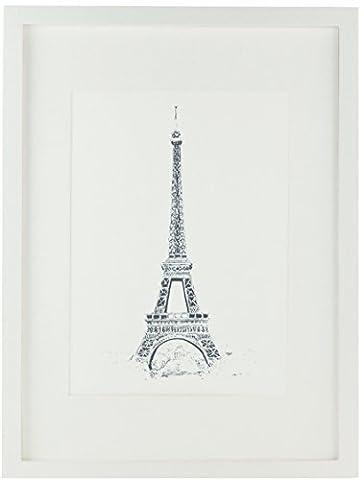 A3 Holzbilderrahmen, Massivholz- Glasscheibe - mit A4 Passepartout - Posterrahmen mit Rahmenbreite von 2cm! - Weiß
