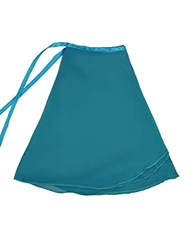 NawtyFox Teal Adult Sheer Chiffon Wrap Skirt