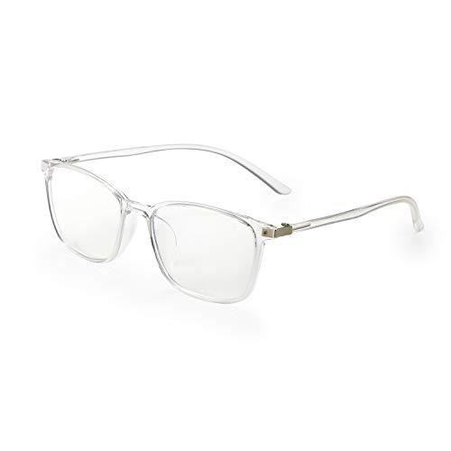 Aroncent Brillengestell für Vista Herren Damen UV 400 Anti-Licht, widerstandsfähig, elastisch, transparentes Glas, bequem, leicht, Farbe wählbar Bianco