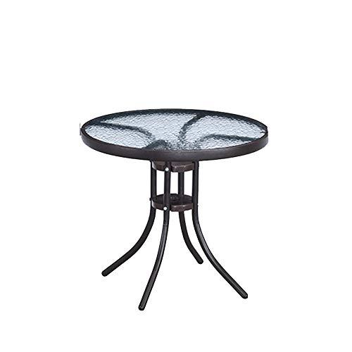 Klapptisch Tägliche Notwendigkeiten Terrasse Garten Freizeit runden Tisch Tisch aus gehärtetem Glas Haushalt kleinen Tisch Essecke (Size : B) -