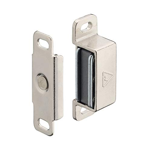 2613 Ersatz (Gedotec Magnet-Schnapper Ersatz Magnetverschluss Ersatzteil Türschnapper zum Schrauben | Stahl vernickelt | Haftkraft 4 kg | Türverschluss inkl. Gegenstück | 1 Set)