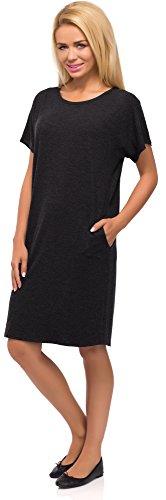 Merry Style Damen Kleid Modell 523 Graphite