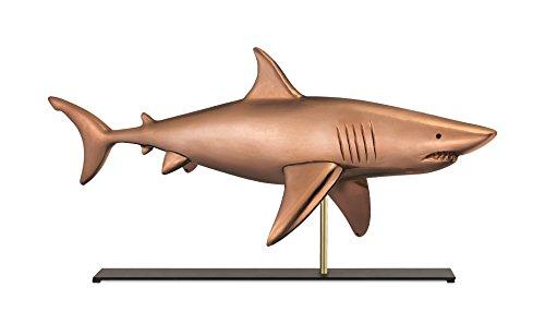 good Richtungen, Inc. (gp2z0) Wetterfahne Shark Wetterfahne Skulptur auf Kaminuhr/Kamin Ständer, Pure Nautische Home Décor, Tisch Accent, Kupfer, 76,2x 15,24x 35,56cm (Nautische Wetterfahne)