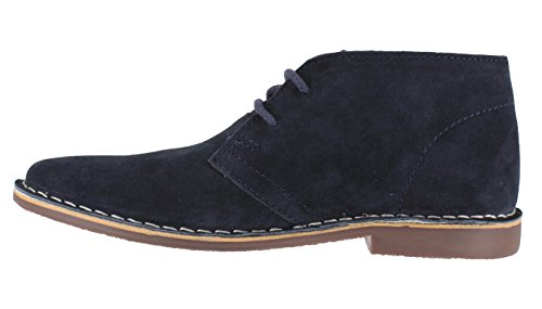 Red Tape Gobi Herren aus echtem Wildleder Lace Up Casual Desert Boots Dunkelblau