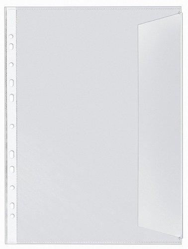 Veloflex 5340000 Dokumentenhüllen DIN A4, PP 130my, 10er Packung, dokumentenecht, rechts offen, mit Klappe
