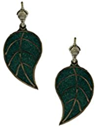 green painted wooden dangler
