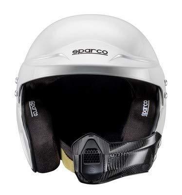 Sparco 0033495XL Helm Air Pro Rj-5I Kevlar/Fiberglas Fia Tg. Xl, Weiß (Kevlar Helm Xl)
