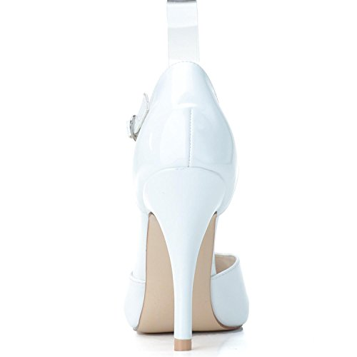 Chaussures De Bureau Pour Femmes Elobaby Pu Pu New 0255-26 Prom. Punta Chiusa Rouge