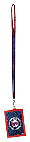 MLB Minnesota Twins Beaded Lanyard with Nylon Wallet