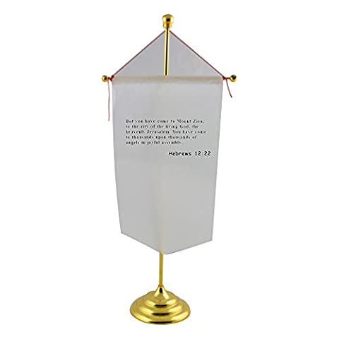 Table flag with 30 Charm is deceptive and beauty is fleeting but a woman who fears the LORD is to be praised.