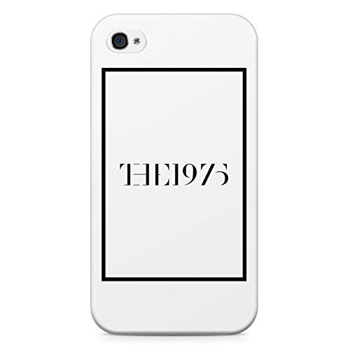 The 1975 White Logo Hard Plastic Snap Case Cover For iPhone 4 Custodia