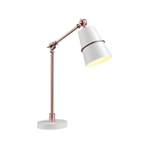Nordic designer kreative mode tischlampe postmodern minimalistischen büro wohnzimmer schreibtisch nachttisch verstellbare tischlampe 13 * 50 cm, weiß