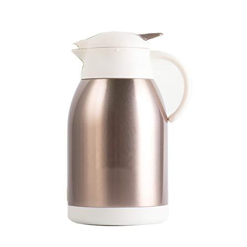 WLHW Trinkflaschen Thermoskannen, Vakuumisolierungstopf, Großraum 304 Edelstahl-Liner Kaffee Tee Thermosflasche 2L R2 (Farbe : Champagner)