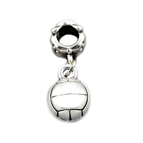 Bling Stars Sport-Charm, baumelnder Anhänger, Basketball-Charm für Pandora-Armband Volleyball