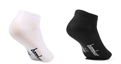 lampox; - Sneaker ♻Bambussocken - 6 Paar - Geruchshemmend - Antibakteriell - Socken (39-42, 3x Schwarz + 3x Weiß) (Athletische Socken Jungen)