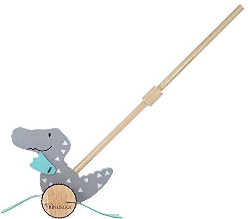 Kindsgut Cocodrilo de madera, juguete de arrastre para niños pequeños, juguete para arrastrar, juguete de empuje y para caminar