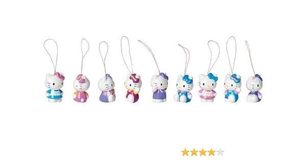 10 kleine Hello Kitty Anhänger in antik silberfarben