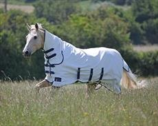 Shires Tempest Sweet-Itch Combo Fly Teppich, White/Royal/Navy, 2 m