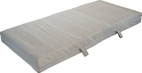 Kindermatratze fest, 60 x 120 cm, Halbleinenbezug