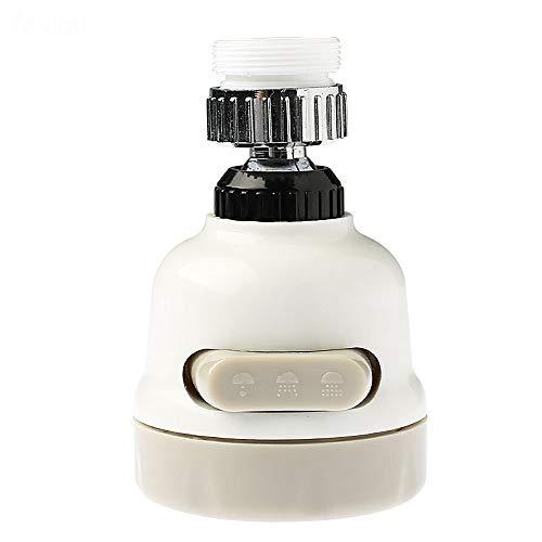 360°-Schwenkbarer Wasserhahn-Diffusor, Spritzwassergeschützt, 3 Gänge, verstellbarer Filter, Wassersparer für Zuhause, Restaurant und Hotel, 2 Stück - Konverter Spüle, Wasserhahn, Dusche