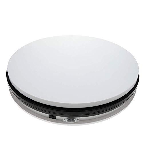 Cablematic - Base giratoria eléctrica de 35 cm. Plataforma rotatoria de color blanco