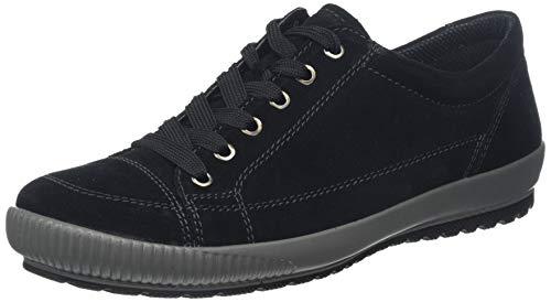 Legero TANARO-Sneaker, Damen Niedrig- Anderes Leder, Schwarz (Schwarz 00), 39 EU (6 UK) (Leder Schuhe Halbschuhe Damen)