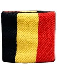 Digni® Poignet éponge avec drapeau Belgique - Pack de 2 pièces