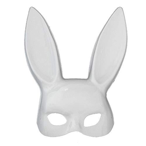 (CHAGANA Maskerade Hasenmaske Halloween Kostüm Halbes Gesicht Karneval (D))